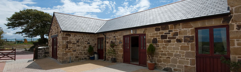Self catering holiday accommodation with country views near Newquay Cornwall